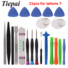 Tiepai 21pcs Mobile Phone Repair Tools Kit Spudger Pry Opening Tool Screwdriver Set for iPhone 7 Samsung Phone Hand Tools Set