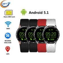 GFT smart uhr kw88 bluetooth smartwatch sim android wear mtk6580 android5.1 system mit pulsmesser männer sportuhr