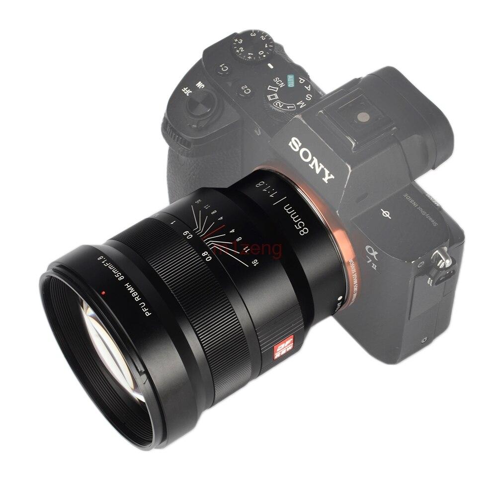 85mm F1.8 manuel à focale fixe Plein Cadre pour sony a7ii a7m3 a7r a9 Fujifilm xt3 xt10 xt20 xt100 xa3 xm1 caméra sans miroir