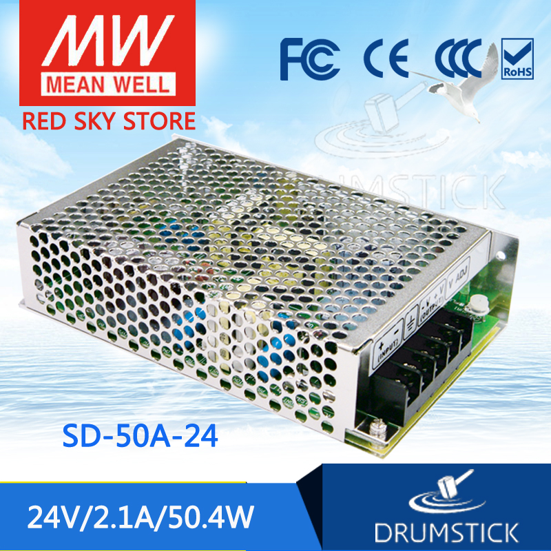 цена на Genuine MEAN WELL SD-50A-24 24V 2.1A meanwell SD-50 24V 50.4W Single Output DC-DC Converter