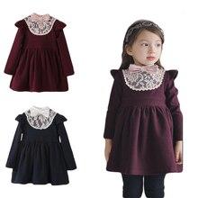 Cho Bé Gái Sơ Sinh Mùa Đông Cho Bé Bé Gái Cotton Ấm Đầm Công Chúa Bé Gái Dày Phối Ren Váy Nơ 2 3 4 5 6 7 Năm