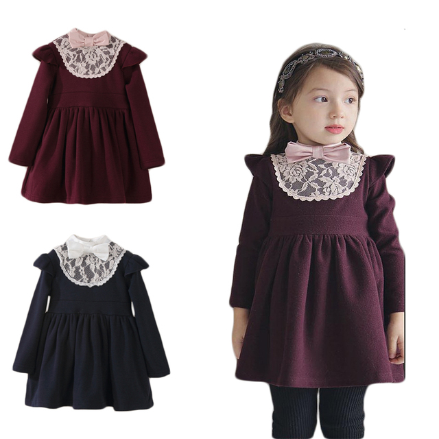 befa34b93 toddler girl winter dresses baby little girls cotton warm princess ...