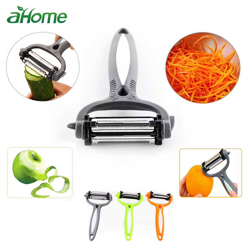 US $1.34 10% OFF|Kitchen Gadget Potato Peeler Multifunctional 360 Degree  Rotary Vegetable Peeler Cutter Melon Planer Grater Kitchen Cookig Tool-in  ...