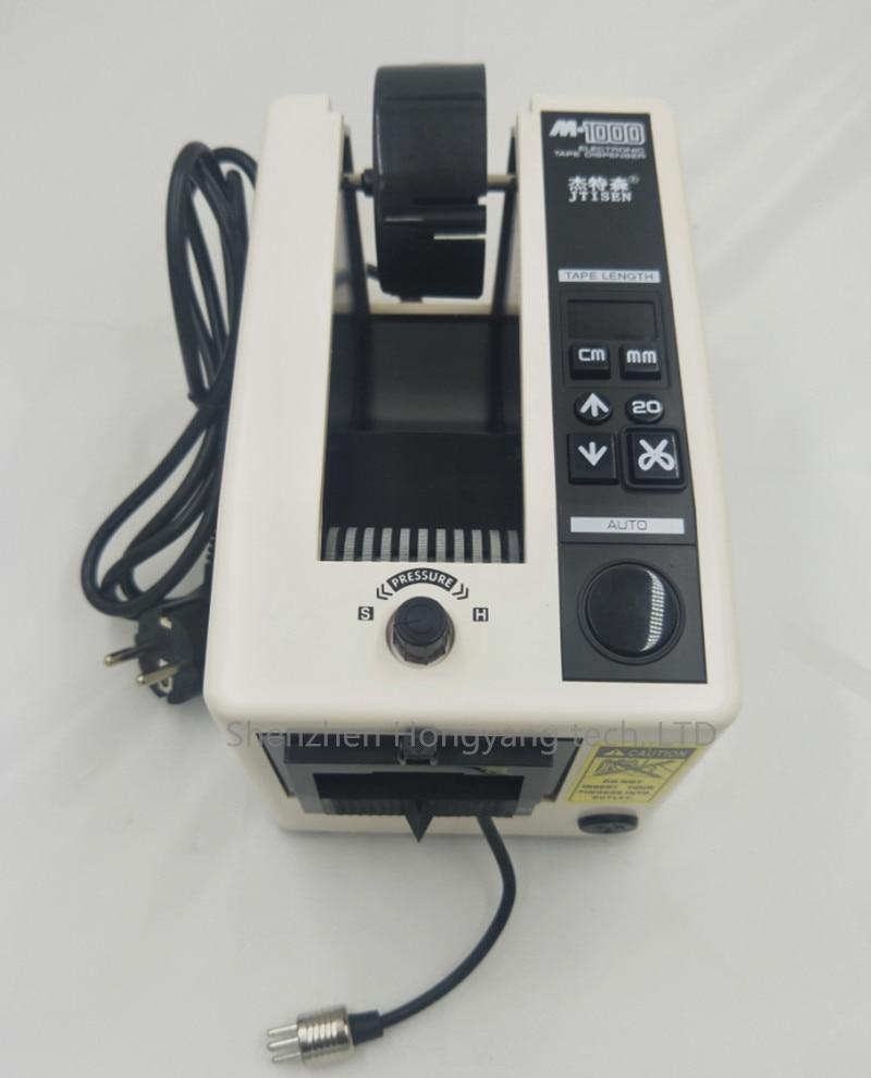 220 V/110 V Automatique Électronique Emballage Cutter Distributeur de Bande M-1000 Ruban Adhésif Machine De Découpe importés moteur/CE