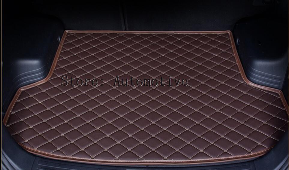 Tapis de coffre de voiture de doublure de cargaison automatique pour Toyota LAND CRUISER 100 1998-2007 tapis de botte de haute qualité tapis en cuir de broderie livraison gratuite