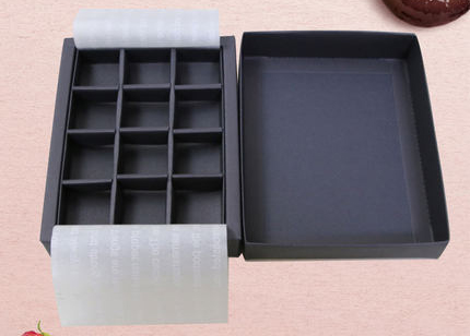 Black Colour Chocolate Macaroon Box Hold 6/9/12/16/ 20/25 Pcs.Chocolates Candy Box Packaging.50piece\lot