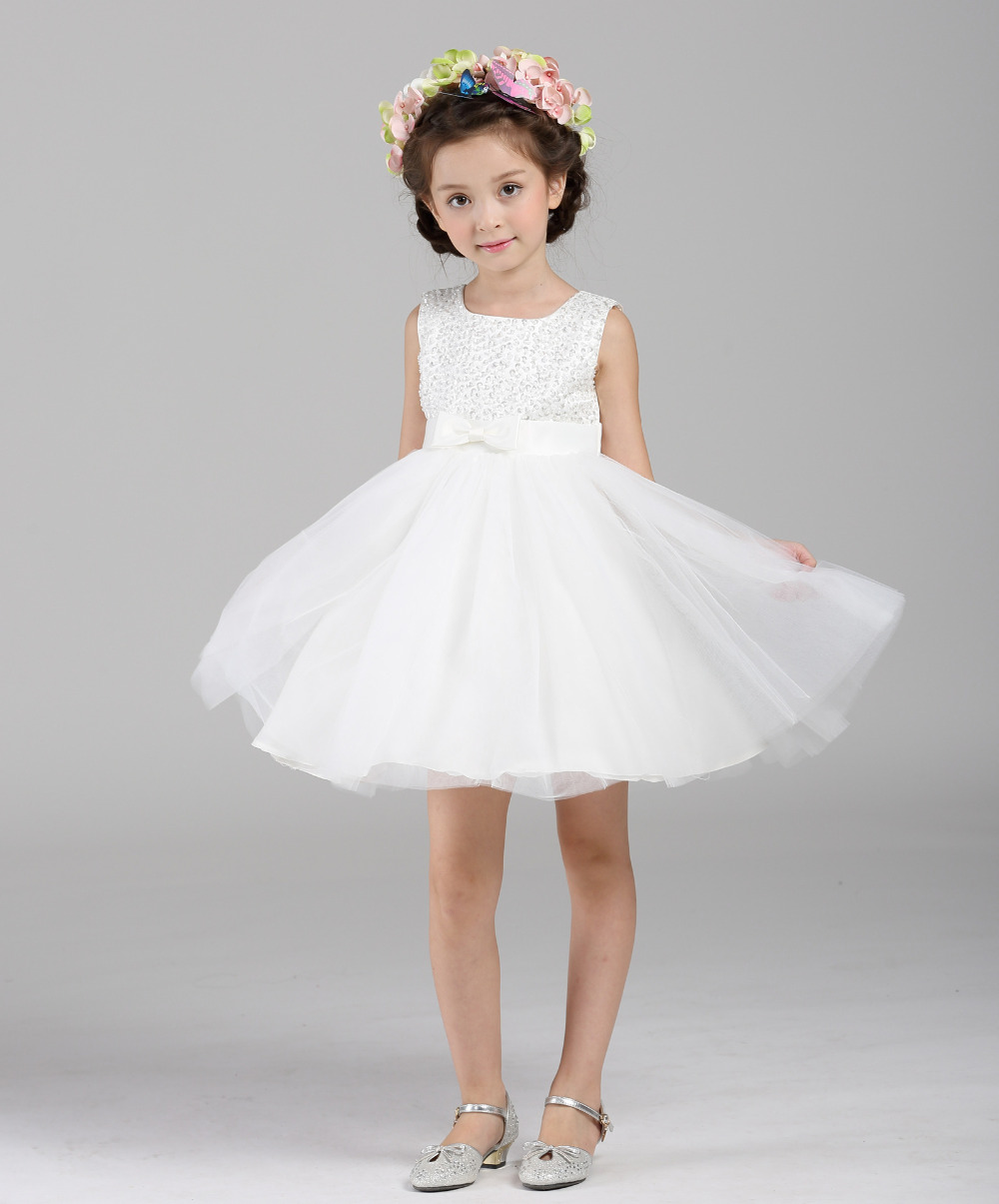 new release new lifestyle half off High End White Flower Girl Dresses Beadings Tulle Princess ...