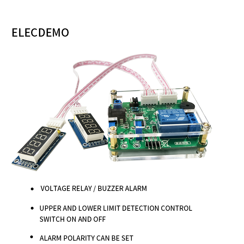 Voltage comparison relay module Upper and lower threshold detection alarm Overvoltage protection Charge discharge Battery