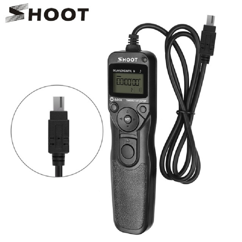 SHOOT MC-DC2 Camera <font><b>Timer</b></font> <font><b>Remote</b></font> <font><b>Shutter</b></font> for <font><b>Nikon</b></font> D3100 D7000 D3200 D5000 D5100 D5200 Z6 Z7 Digital SLR Camera Accessories image