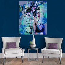 100% Hand Painted large size nude Oil Painting Girl Squat Down Sexy Naked Beauty modern art home decor