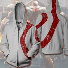 God of War Hoodie Sweatshirt Cosplay Costume Kratos Game PSV/PS Vita Anime White Jacket Coats Men and Women New
