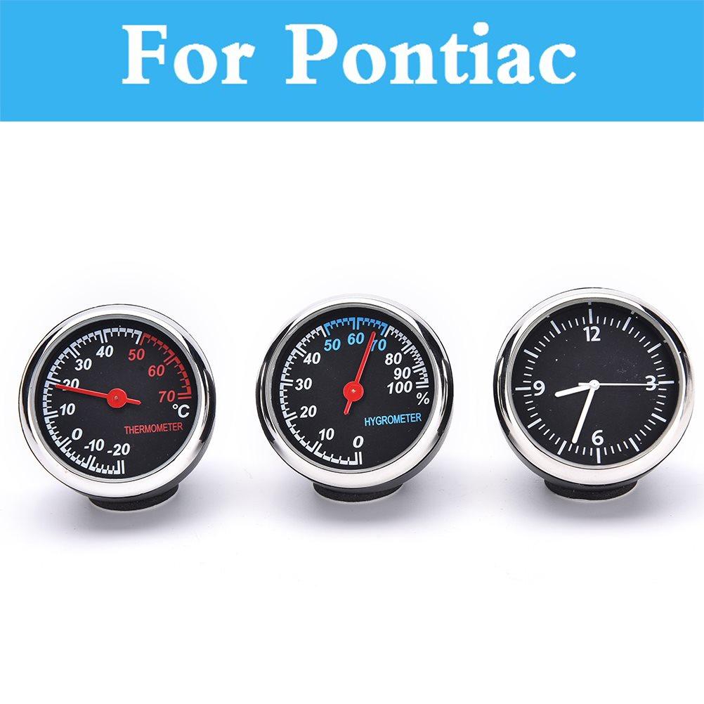Автомобиль термометр-гигрометр механические Круглый Кварцевые Часы гигрометр для Pontiac ...