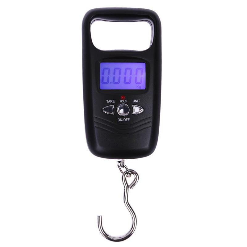 50kg/10g Digital Scale Portable LCD Electronic Scale Blue Backlight Hanging Luggage Scale Support Temperature Measurement