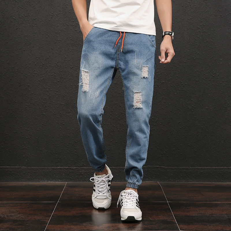 2017 Summer Thin Ripped Jeans Men Pants Blue Boys Casual Denim Pants Korean Mens Joggers Jeans Male Plus Size 5XL 7 inch video door phone doorbell intercom kit 1 camera 1 monitor