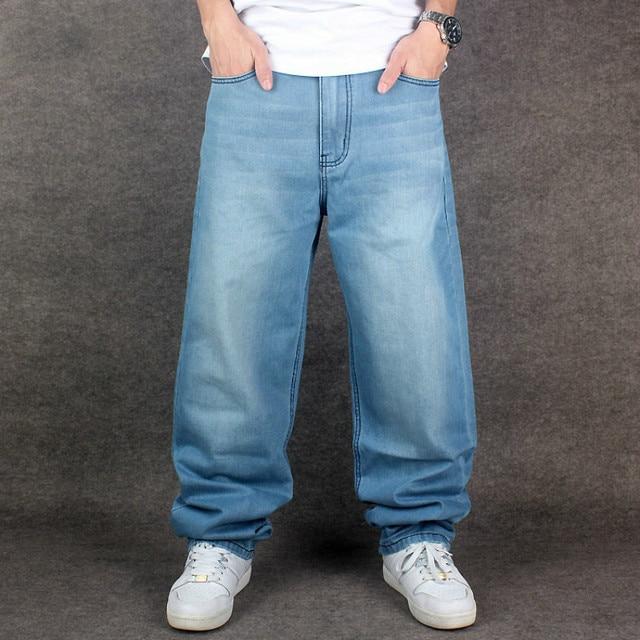 6695149ff49c4 New Brand Men Hip Hop Jeans Skateboard Men Baggy Jeans Denim Hiphop Pants  Casual Loose Jeans