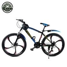 High-carbon steel 26-inch mountain bike dual disc brakes one wheel speed damping 21 Men Women Student Bicycle s1