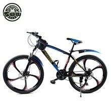 Libertad de amor de Acero De Alto Carbono Bicicleta de Montaña Frenos de Doble Disco Una Rueda de Velocidad de Amortiguación 21 Velocidad Hombres Mujeres Bicicleta estudiante