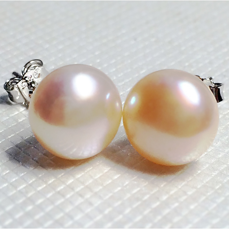 BaroqueOnly 100% Genuine Freshwater Pearl white pink purple blue Silver Stud Earrings Fashion Jewelry for Women Super Deal