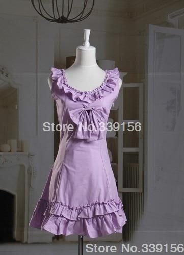 Custom-Made Puple Ruffles Sleeveless Bow Classic Princess Dress Sweet Lolita Party Dress