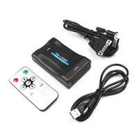 10PCS VGA To Scart Converter Video Converter Portable Video Digital Switch Box