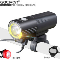 GaCIROn V9S USB Bicycle CREE L2 Lamp Light Bike Led Portable Power For Mobile With 26650