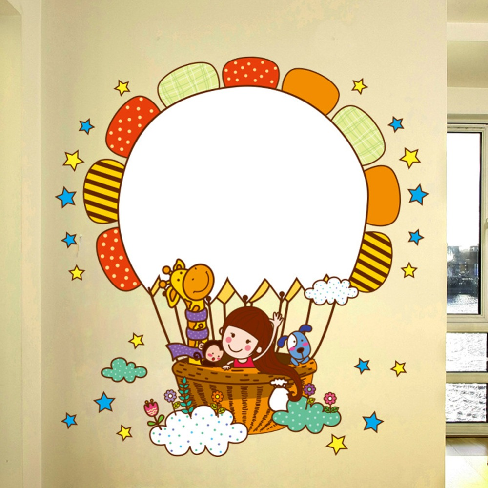 Stars Sunflower Writing Board Wall Sticker Decal Home Paper ...