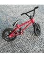 Profesional Dedo Juguetes Rojo y Negro Color MINI BMX Bicicleta Ciclista con Frenos Real Regalo de Navidad niño DEPORTES EXTREMOS