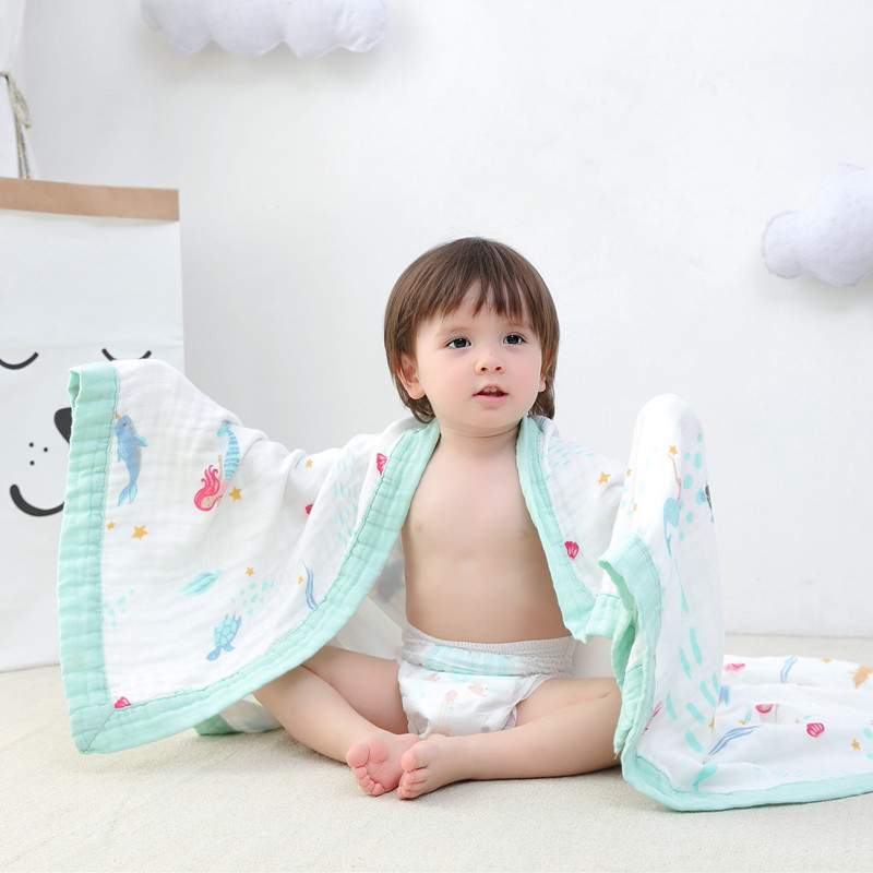 muslin four layer Bamboo+cotton Baby muslin blankets Swaddles Newborn Blankets Gauze infant wrap sleepsack swaddleme bath towel 6 layers muslin cotton baby blankets swaddles newborn wrap gauze crown children blankets infant bath towel size 150 200cm