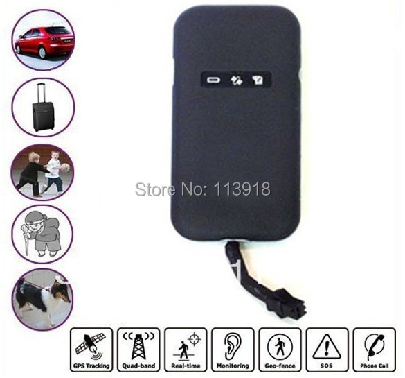 Free Shipping!GT02A/GT02 GPS tracker device Real Time 4 band GSM/GPRS/GPS Tracking THINNER THAN TK-102 TK-103(NO RETAIL PACKING)