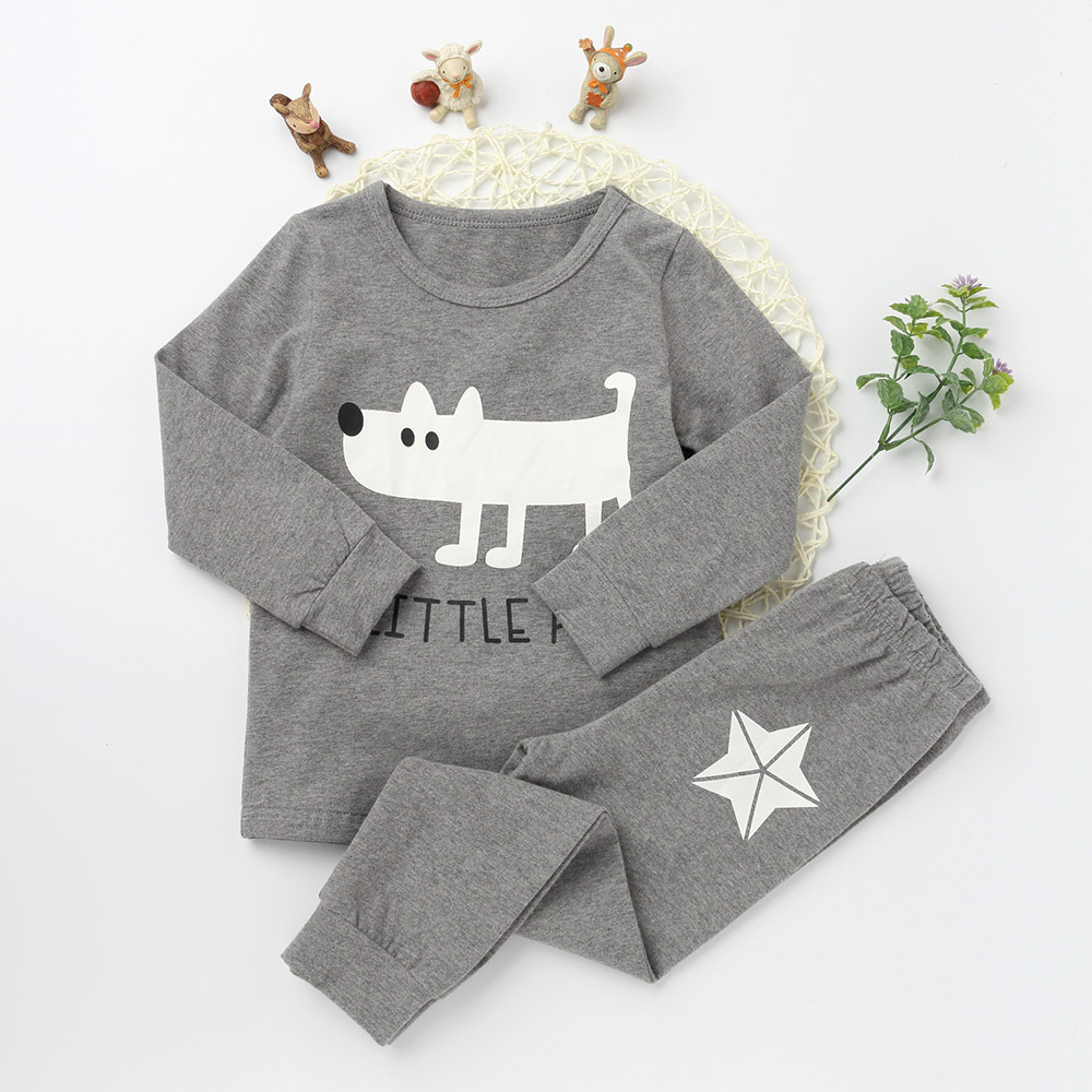 Children Pajamas Suits Fashion Girls And boys Cotton O-neck Clothing Sets Character Pattern 2017 Long Sleeve Top Tee Long Pants year cotton long sleeves baby kids children suits boys pajamas christmas girls clothing sets clothes