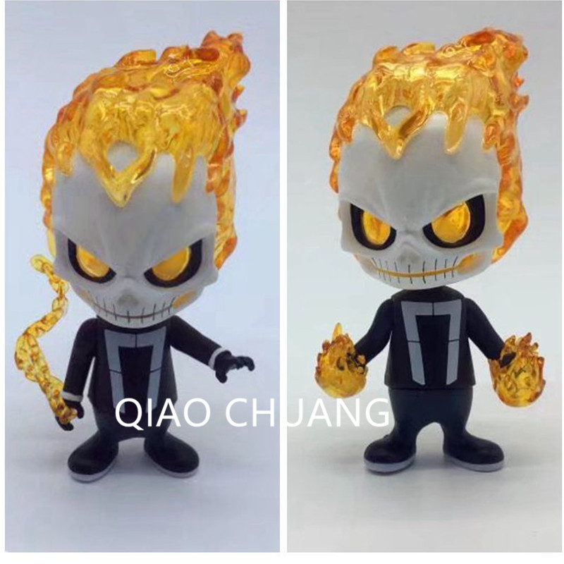 HT Agents of S.H.I.E.L.D Superhero DC Comics Ghost Rider Jonathan Blaze Q Version PVC Action Figure Collection Model Toy G242