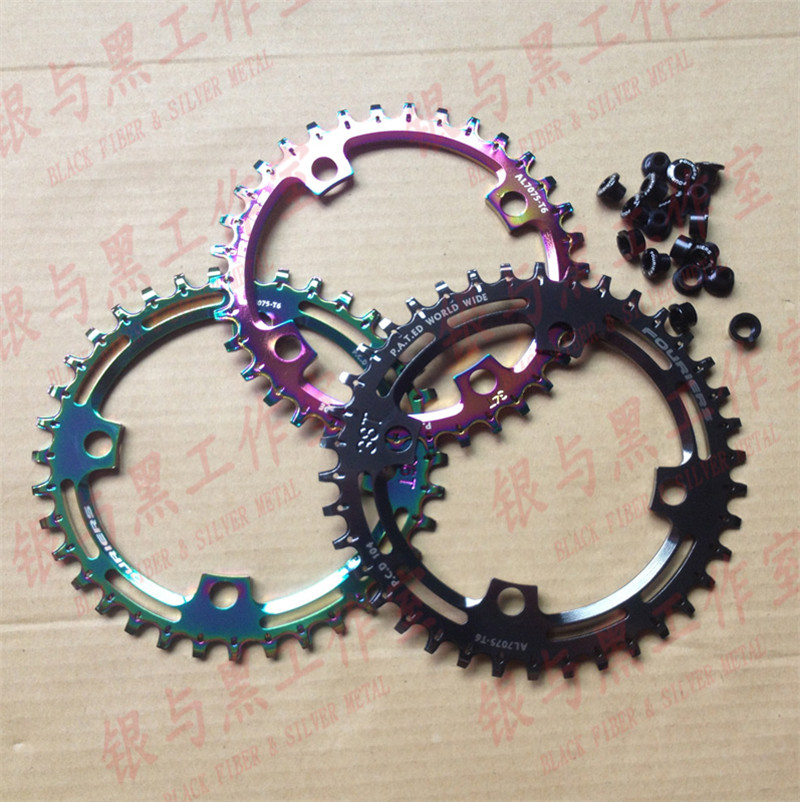 FOURIERS CNC narrow-wide bicycle chainring for 1x system 30T-40T For PCD/BCD 104mm bdsnail bike bicycle suit sets crankset crank chainwheel 30t 32t 34t 7075 cnc narrow wide chainring for gxp xx1 x9 xo x01 cnc al
