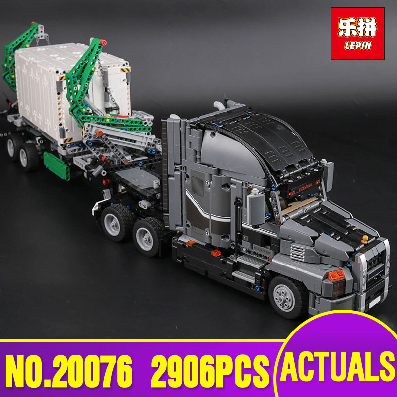 Lepin 20076 Technic Series Genuine The Mack Big Truck Set legoing 42078 Building Blocks Bricks Educational Toys For Kids As Gift lepin 20076 technic series the mack big