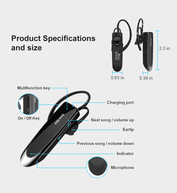 Wireless Bluetooth Hands-free Headset