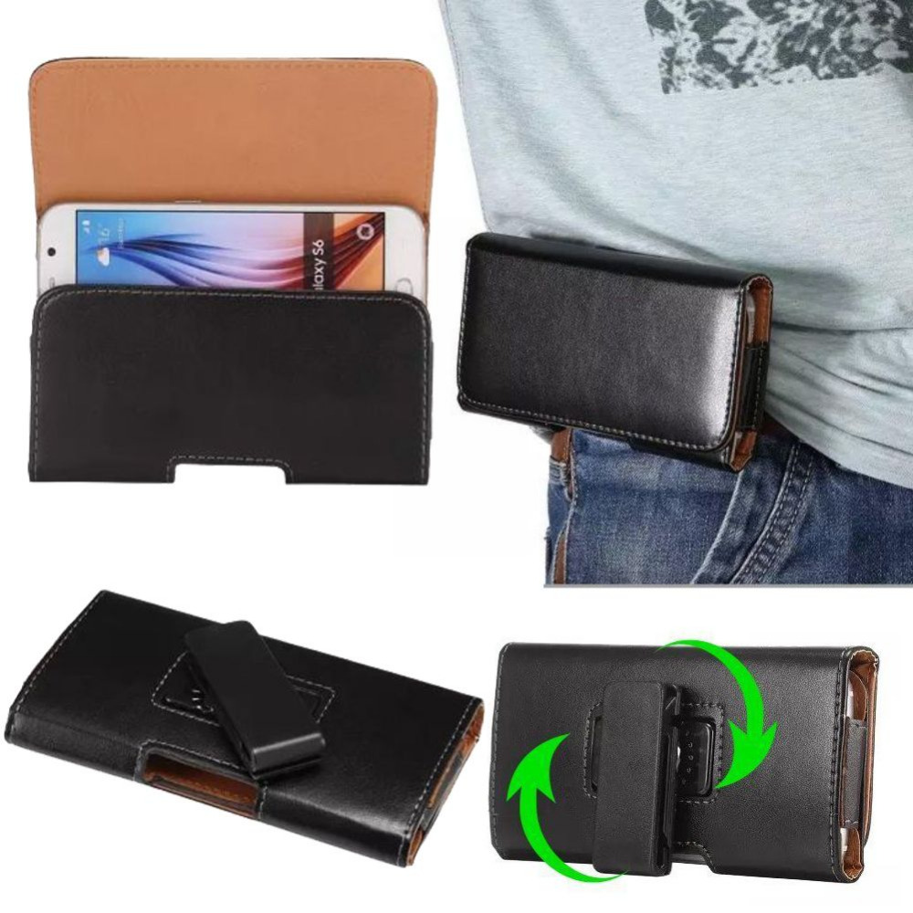 360 Rotation PU Leather Pouch case cover for fly ERA LIFE 7 IQ4505 QUAD 5.2 inch Universal Belt Clip Holster Phone Bags S2A05D