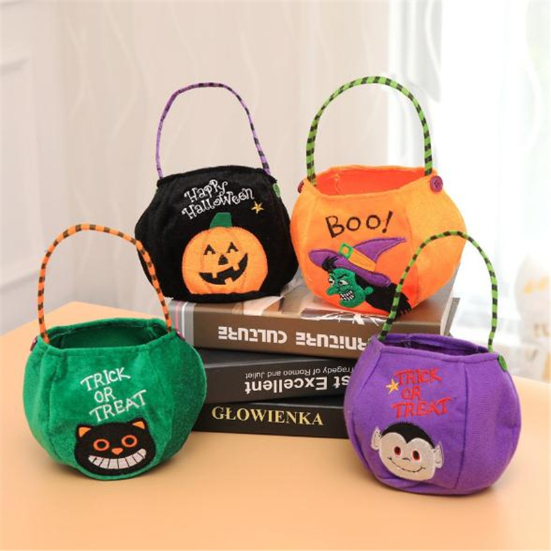 Christmas Halloween Party Cos For kids Trick Or Treat Toy Anime Props Children's portable Pumpkin Candy Bag Cospaly High Quality