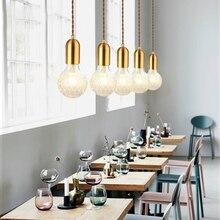 Luces colgantes de cristal nórdico moderno SANBUGM luces colgantes de cabecera para sala de estar pasillo de noche restaurante Bar cafetería