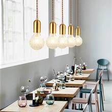 SANBUGM Modern Nordic modern pendant lamps Hanging Lights Glass Ball Globe Lampshade Pendant Lamp Fixture Luster hanging lights