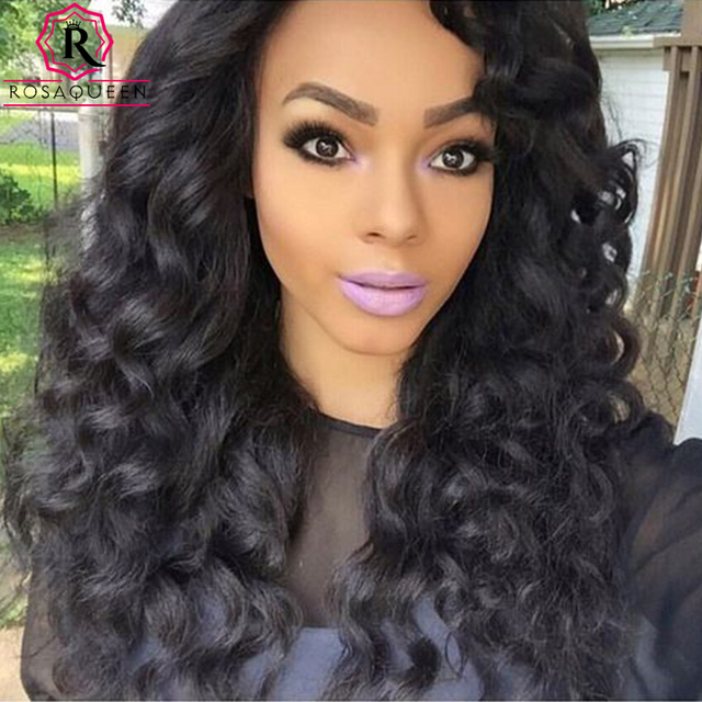 250% Full Lace Human Hair Wigs With Baby Hair Loose Wave Lace Front Human Hair Wigs Black Women Pre-plucked Human Hair Wigs