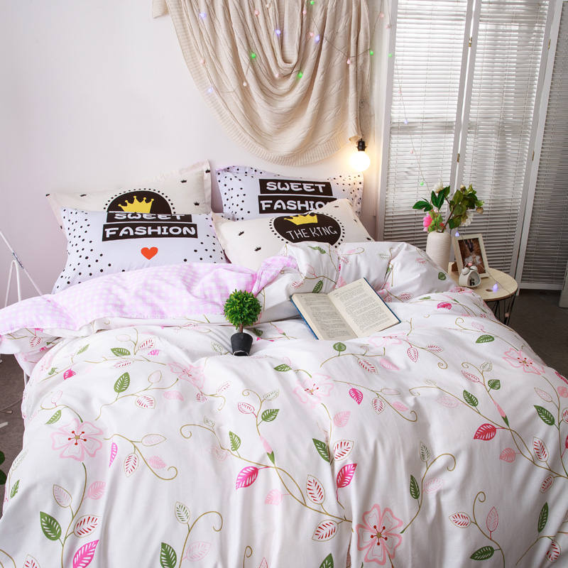 Wedding Designer Flowers Bedding Sets Romantic Pink Flat Sheet Girls/Adult Coverlets Queen/Full Sizes 4/5PC 3D Duvet Cover 400TCWedding Designer Flowers Bedding Sets Romantic Pink Flat Sheet Girls/Adult Coverlets Queen/Full Sizes 4/5PC 3D Duvet Cover 400TC