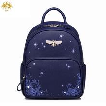 Мы больше из модного кожзаменителя Для женщин Рюкзак дизайнерский бренд Повседневное печати Обувь для девочек Рюкзаки сумка Рюкзаки Леди Мода сумка