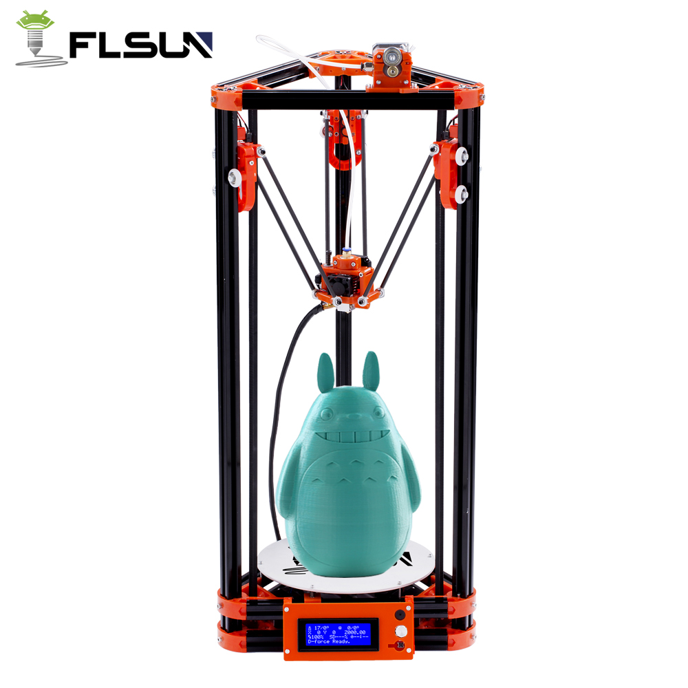 FLSUN 3D Printer Delta Pulley Version Large Print Size 240*285mm 3D Printer Kit Auto Leveling Heated Bed and One Roll Filament все цены