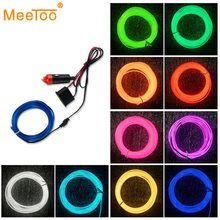 Flexible LED Light Tube 1M 2M 4M 3M 5M LED Strip Waterproof EL Wire Rope Tape Cable Glow Neon Light Lamp For Clothing Car Auto(China)