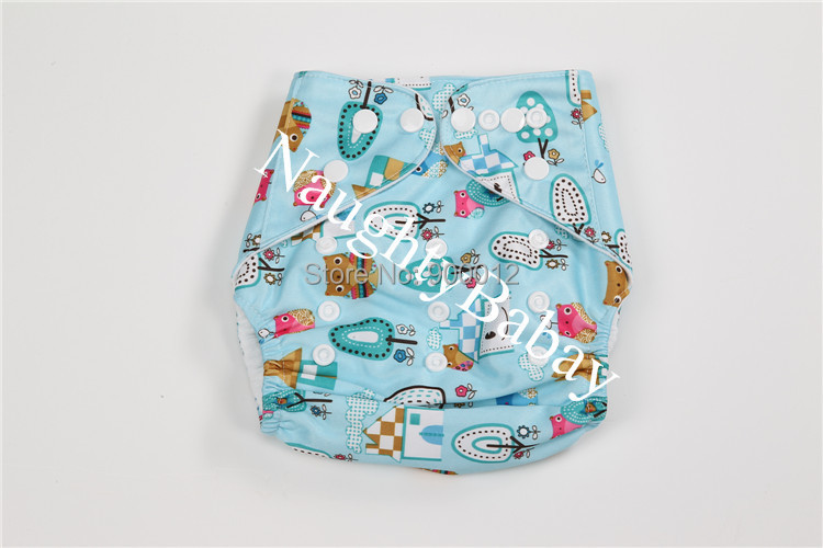 Free Shipping 5 PACK POCKET CLOTH DIAPERS WITH 5 INSERTS (one Inserts per diaper)-BOY PACK Free Shipping B4