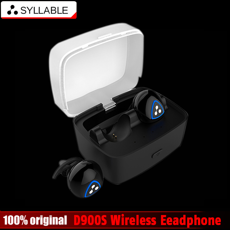 2016 new Original Syllable D900S Wireless Headphone Stereo Sport Bluetooth4.0 Headset Active Noise Cancelling Earbuds Waterproof