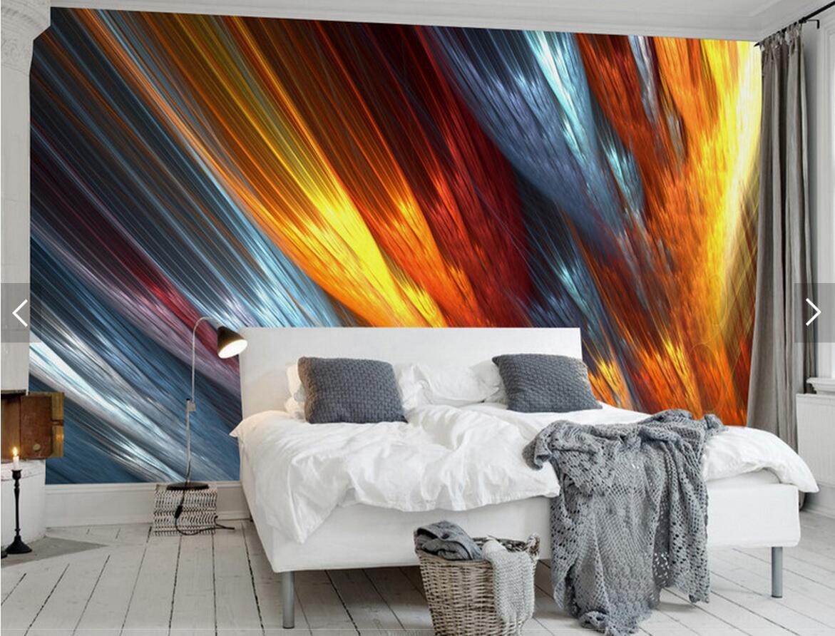Papel pintado europeo 3D abstracto cielo noche Sol subida foto ...