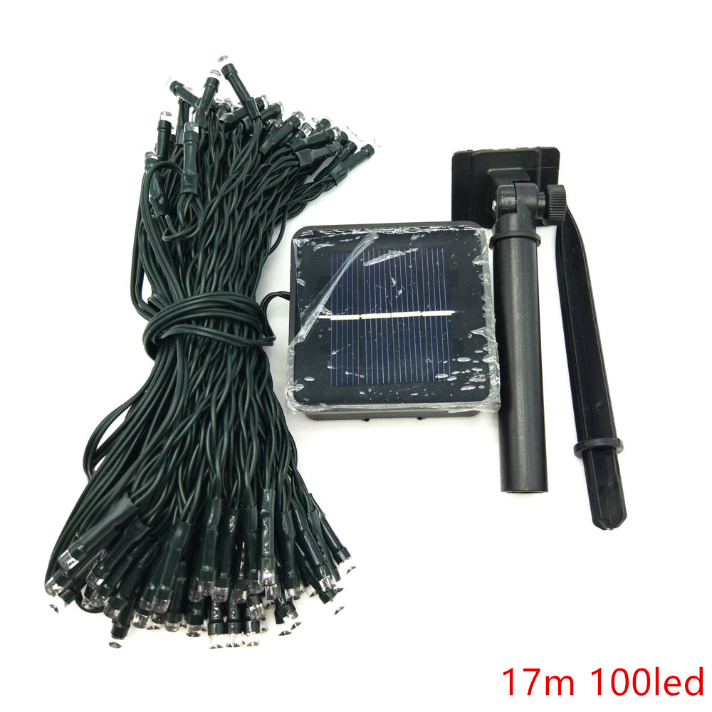 LED Solar Lamp String 17m 100leds/22m200led Solar Powered Outdoor Waterproof Fairy Light For Christmas Wedding Party Decoration