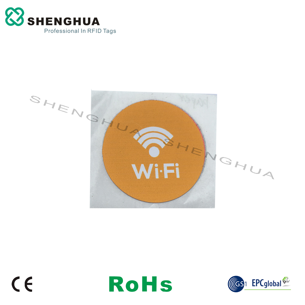 6pcs/pack Promotional Anti-Counterfeiting Printing RFID Passive NTAG213 NFC Sticker 25mm Round Industry Management