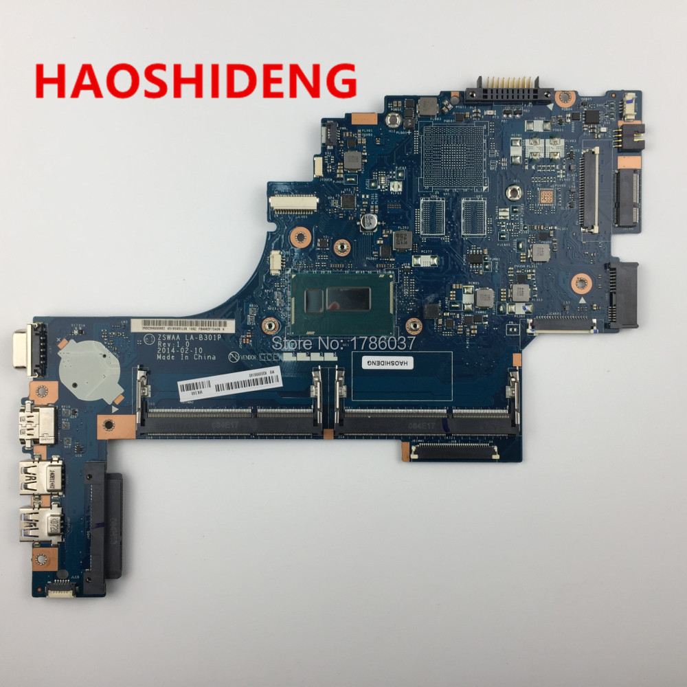 K000889140 LA-B301P For Toshiba C55 C55T-B C55-B5350 Series Motherboard with i3,All functions fully Tested! combbind c55