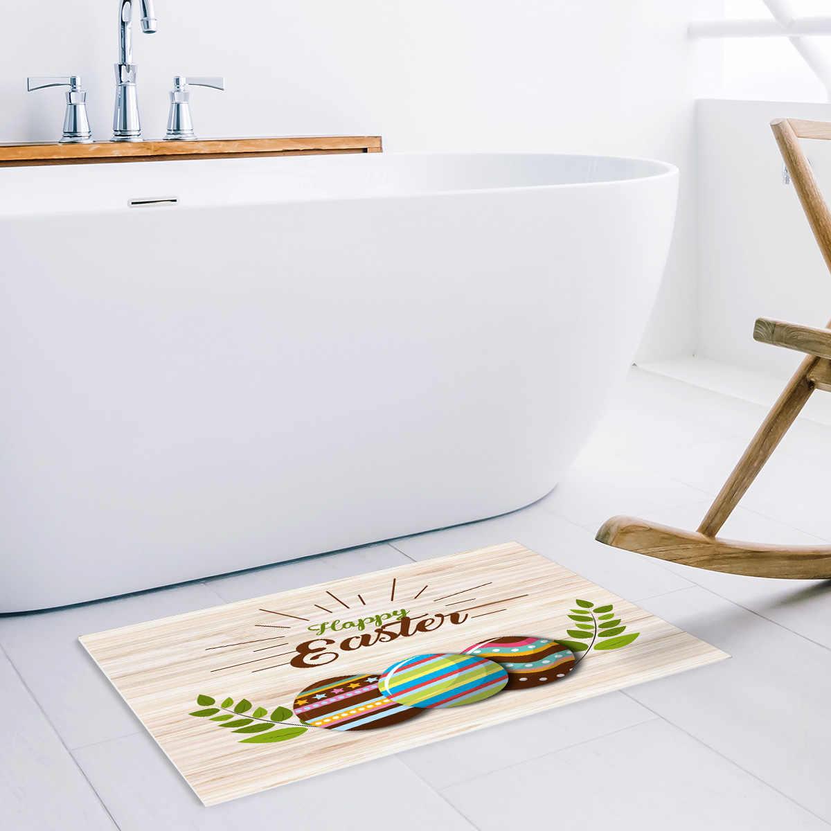 イースターエッグボードで英語ダート破片泥トラッパーブーツ靴スクレーパーお風呂シャワーバスタブアクセサリーセットエリアランナーアクセント敷物